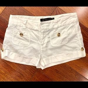 Grass Collection White Linen Shorts 7